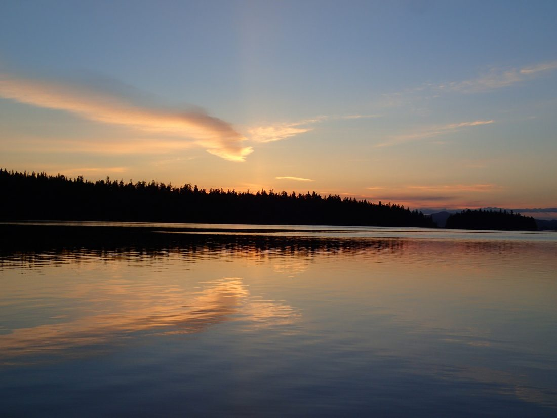 Sunset over Prince of Wales Island